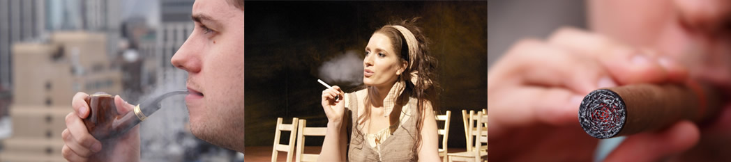 smoking on stage theater performance ecigarette