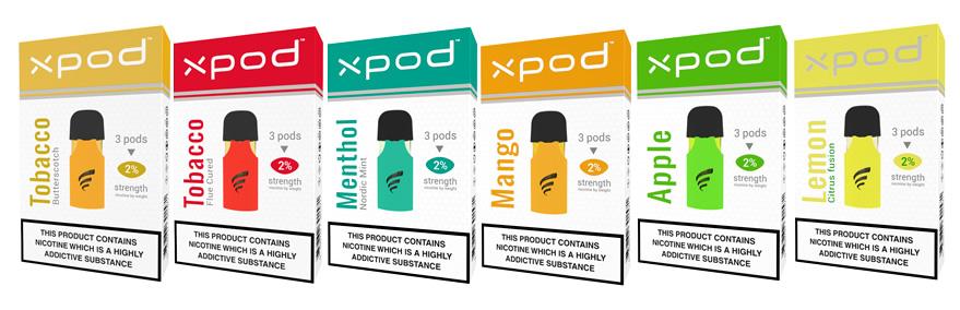 ePuffer xpod flavour vape pods