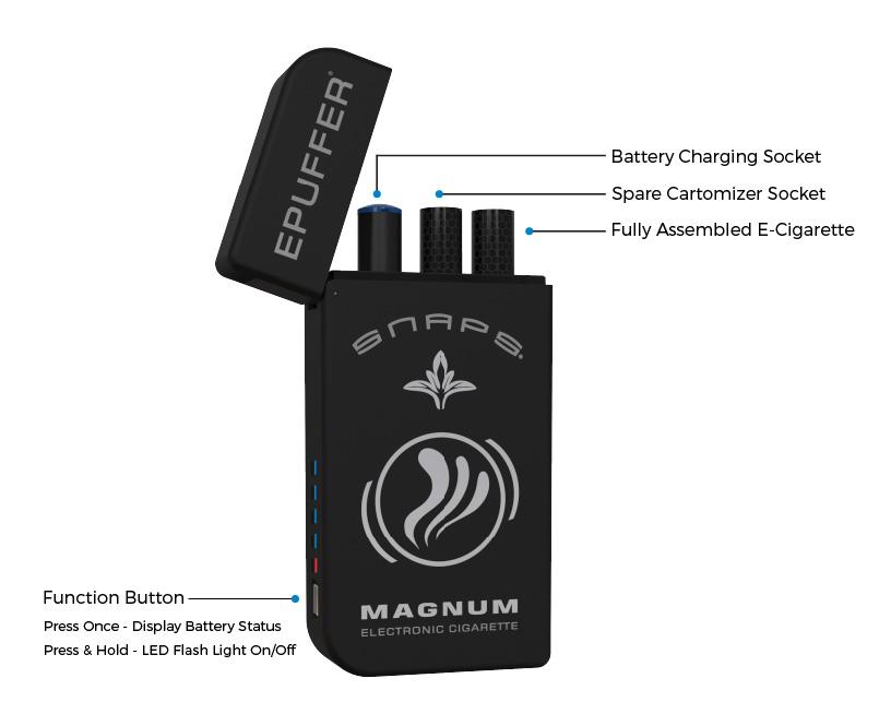 epuffer magnum snaps ecigarette pcc kit