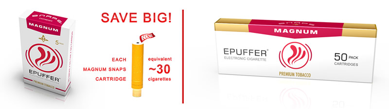 epuffer magnum snaps vs tobacco cigarette savings
