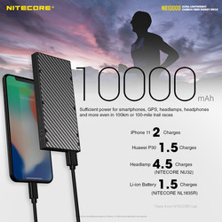 NITECORE NB10000 Quick-Charge USB/USB-C Dual Port 10000mAh Power Bank
