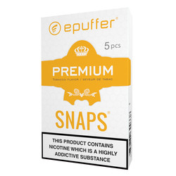 epuffer snaps premium tobacco flavour magnetic ecigarette cartomizers