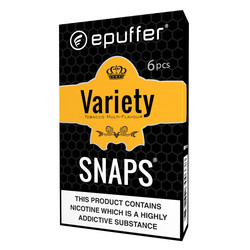 epuffer snaps ecig tobacco variety flavours cartomizers