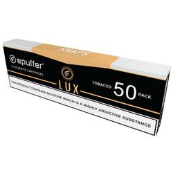 snaps ecigarette lux tobacco flavour cartridges 50 pack