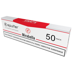 epuffer snaps ecigarette american tobacco cartridges 50 pack