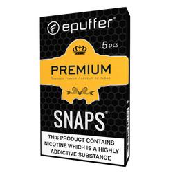 snaps premium ecig tobacco ecigarette cartomizer black