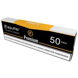 snaps premium tobacco ecigarette cartomizer black