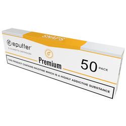 epuffer SNAPS ecig premium tobacco flavour cartridges tan
