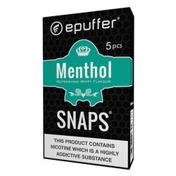 snaps menthol ecigarette cartomizer black