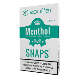 epuffer snaps menthol ecigarette cartomizer