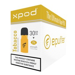 xpod vape pod prefilled butter scotch tobacco 30pack carton