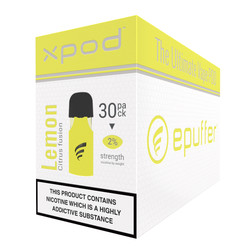 xpod vape pod prefilled sweet lemon 30 pack carton