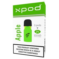 xpod tpd ready vape pod prefilled apple flavour