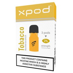 xpod tpd ready vape pod prefilled butter scotch tobacco