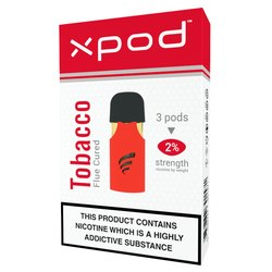 xpod tpd ready vape pod prefilled flue curred tobacco