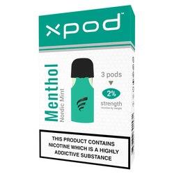 xpod tpd ready vape pod prefilled menthol cigarettes